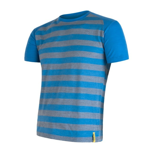 Sensor Merino Active Men's T-Shirt Short Sleeves Striped